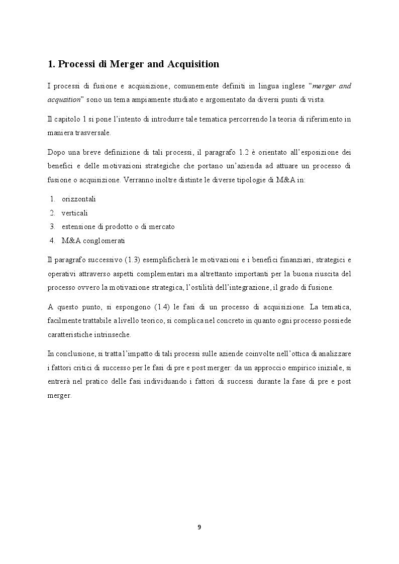 Anteprima della tesi: M&A nel settore TLC: il caso WIND Tre, Pagina 2