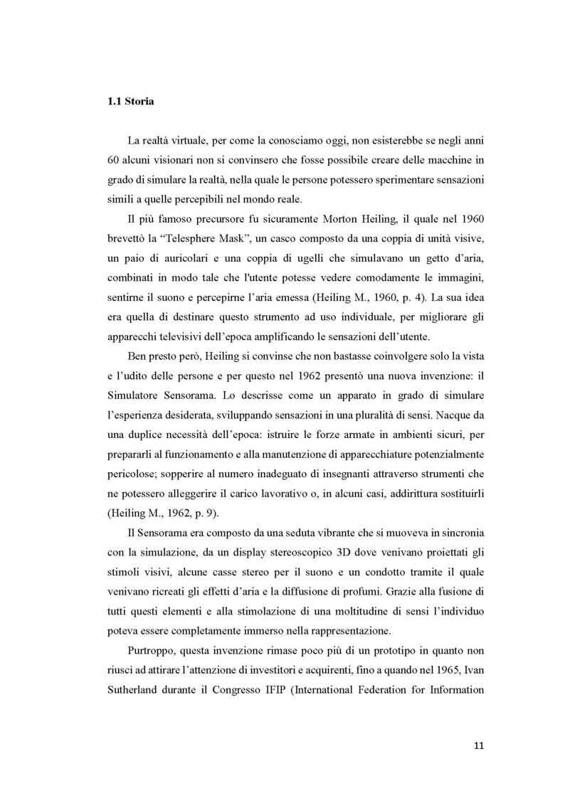 Anteprima della tesi: Una nuova prospettiva per la realtà virtuale, Pagina 7