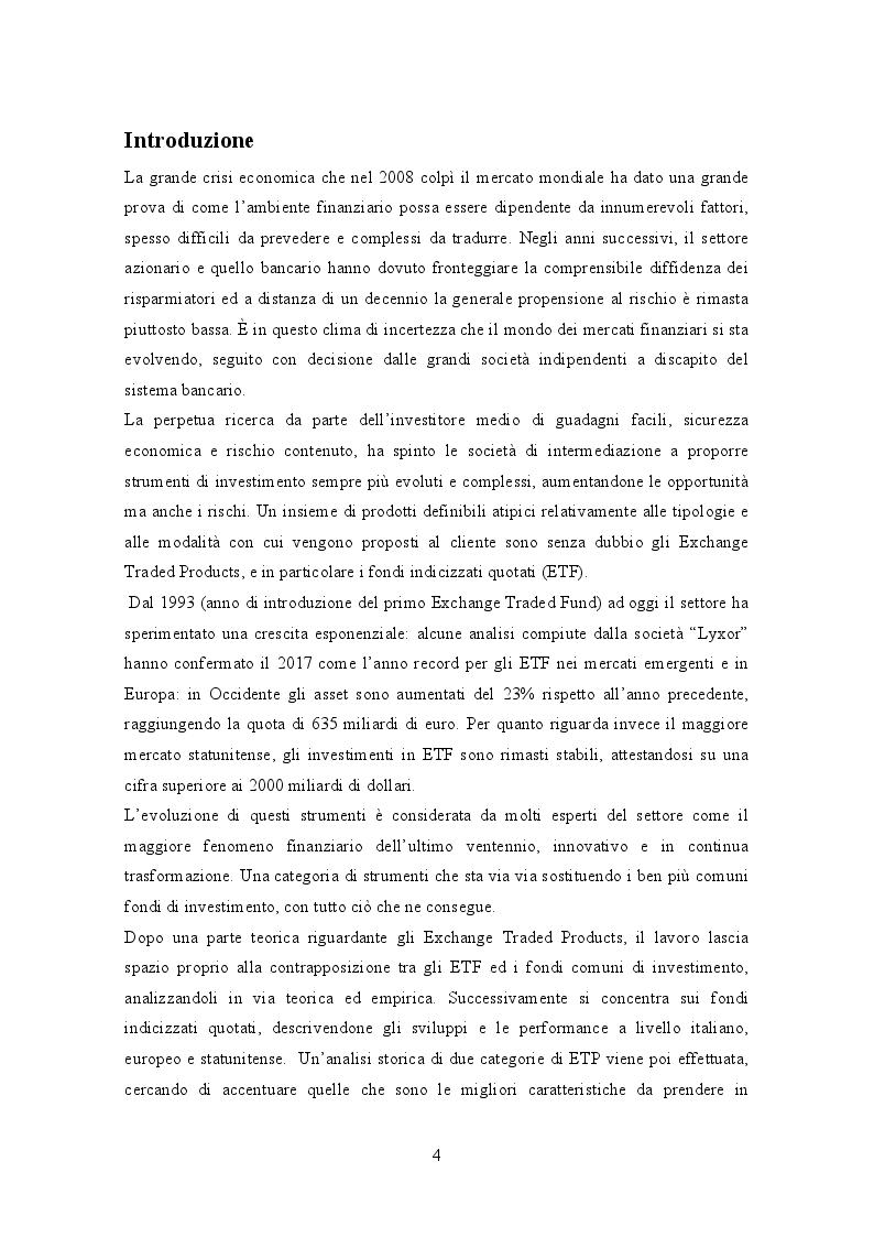 Anteprima della tesi: Gli Exchange Traded Funds: Analisi di dati empirici e prospettive di crescita, Pagina 2