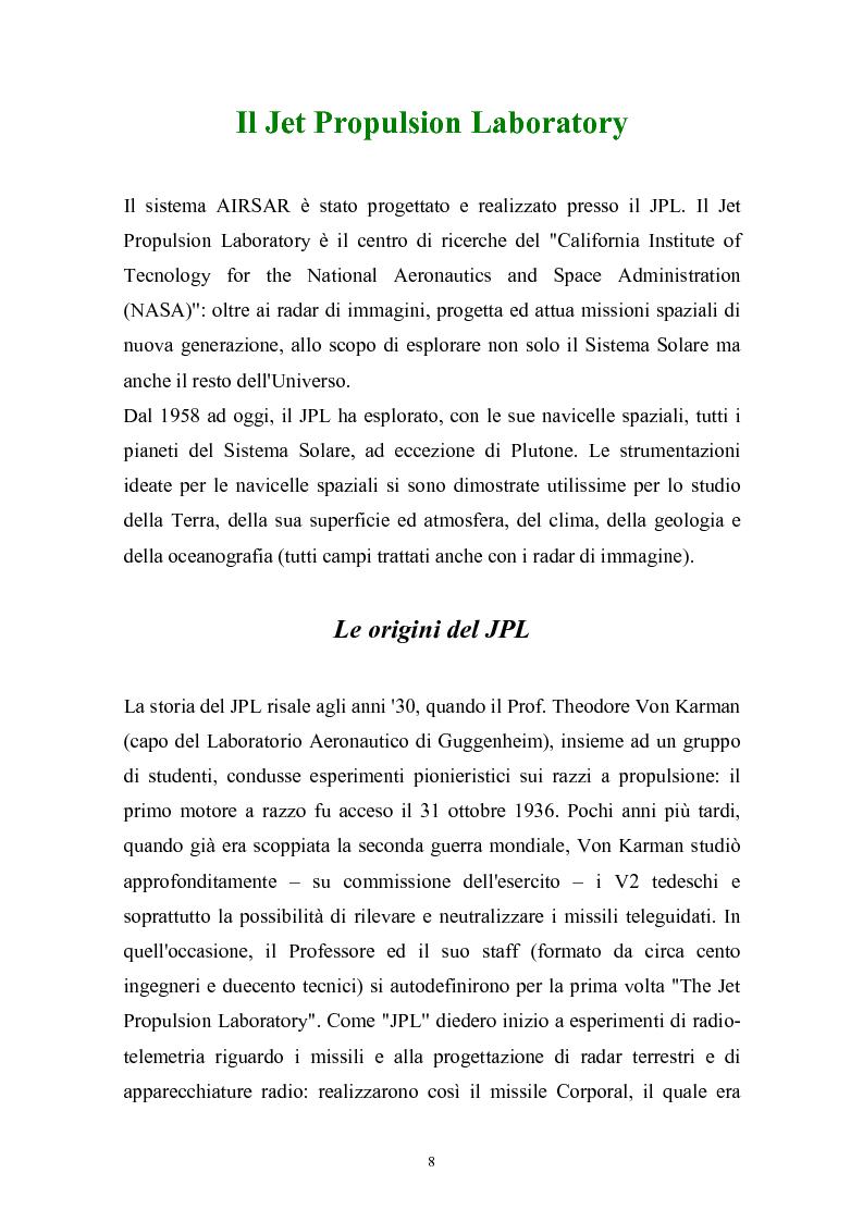 Anteprima della tesi: Studio del sistema Airsar e classificazione di immagini Sar polarimetriche di aree suburbane, Pagina 11