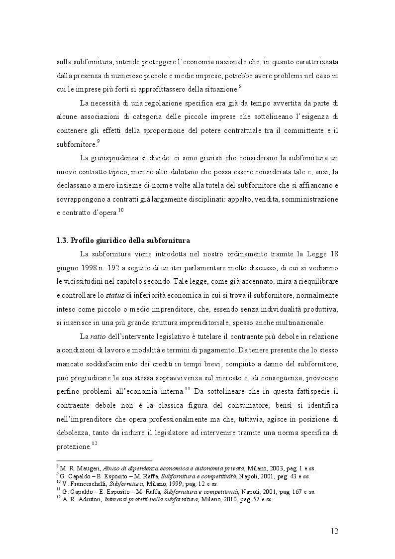 Anteprima della tesi: L'Abuso di Dipendenza Economica: dall'emanazione della legge alla prima volta dell'AGCM, Pagina 6