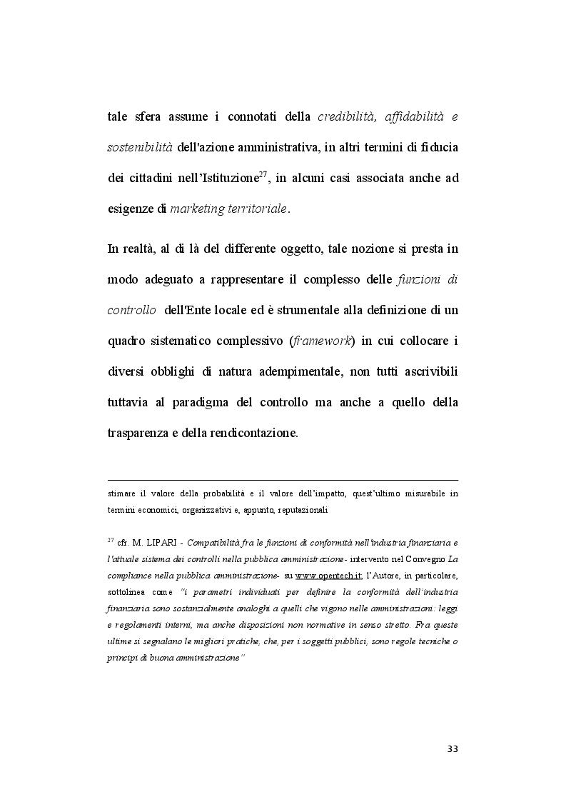 Anteprima della tesi: Il ruolo del segretario all'interno del sistema di compliance dell'ente locale, Pagina 11