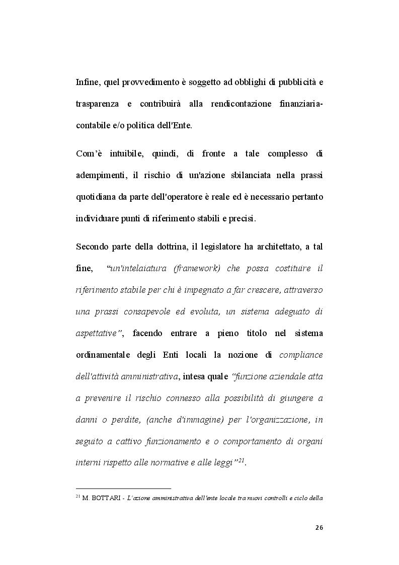Anteprima della tesi: Il ruolo del segretario all'interno del sistema di compliance dell'ente locale, Pagina 4