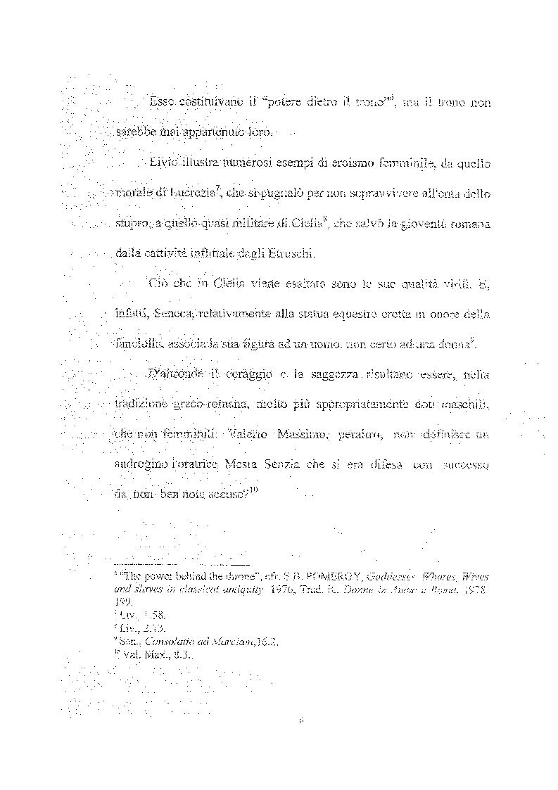 Anteprima della tesi: Femina callida semper in fraude - Le donne secondo uno storico del IV secolo, Pagina 7