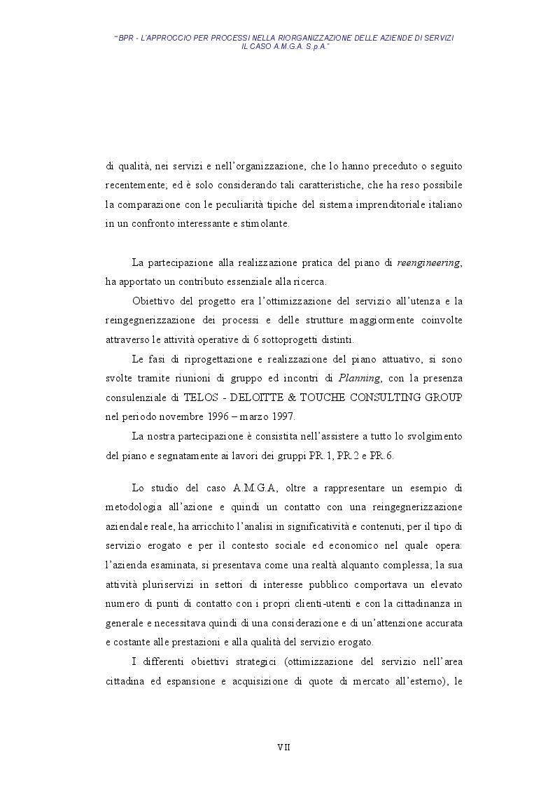 Anteprima della tesi: BPR - L'approccio per processi nella riorganizzazione delle aziende di servizi - Il caso AMGA S.p.A., Pagina 4