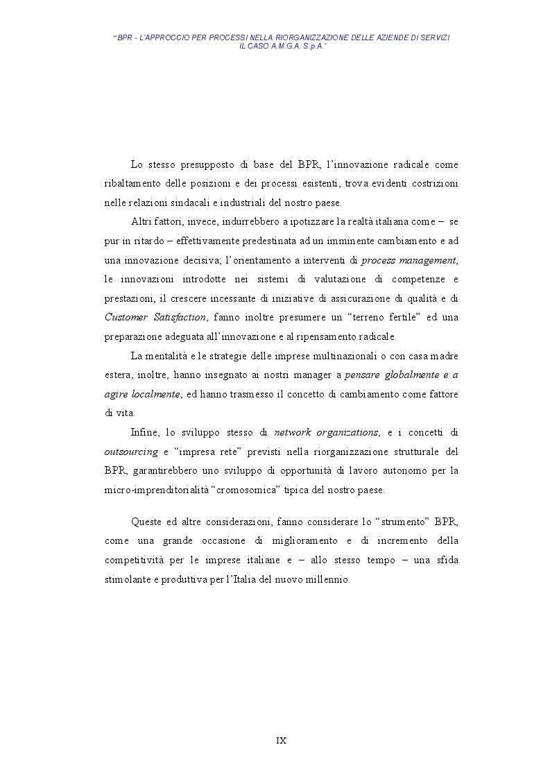 Anteprima della tesi: BPR - L'approccio per processi nella riorganizzazione delle aziende di servizi - Il caso AMGA S.p.A., Pagina 6