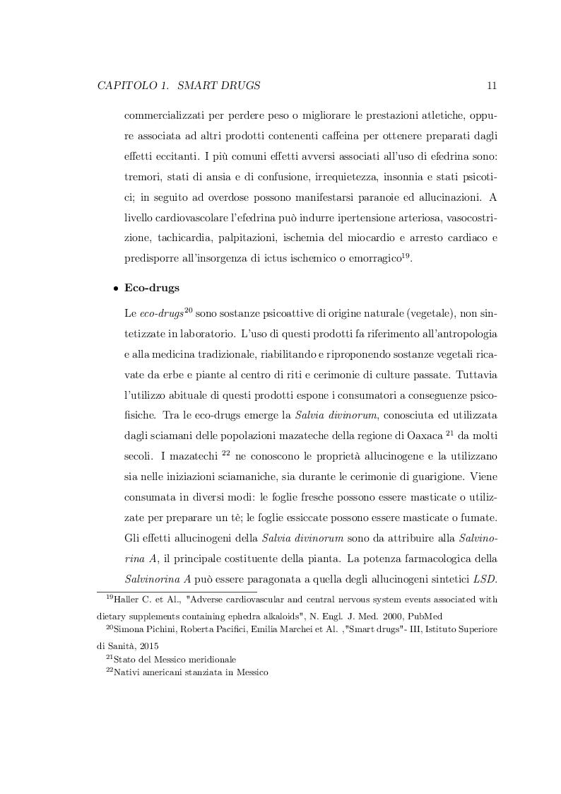 Estratto dalla tesi: Smart Drugs: Stimolatori cognitivi e loro utilizzo