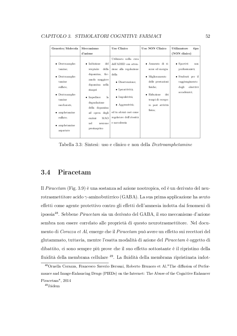 Anteprima della tesi: Smart Drugs: Stimolatori cognitivi e loro utilizzo, Pagina 9