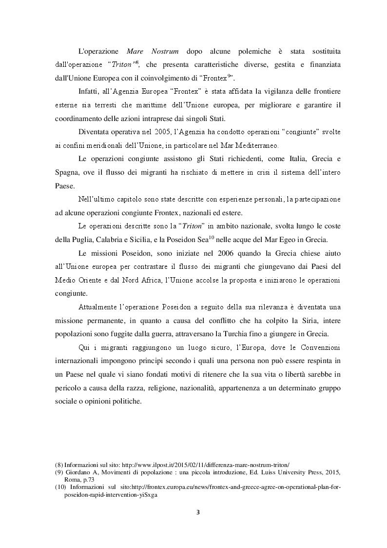 Anteprima della tesi: Il fenomeno dell'immigrazione irregolare e la salvaguardia della vita umana a mare, Pagina 4