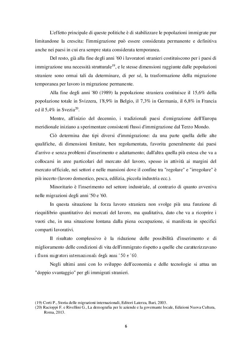 Anteprima della tesi: Il fenomeno dell'immigrazione irregolare e la salvaguardia della vita umana a mare, Pagina 7