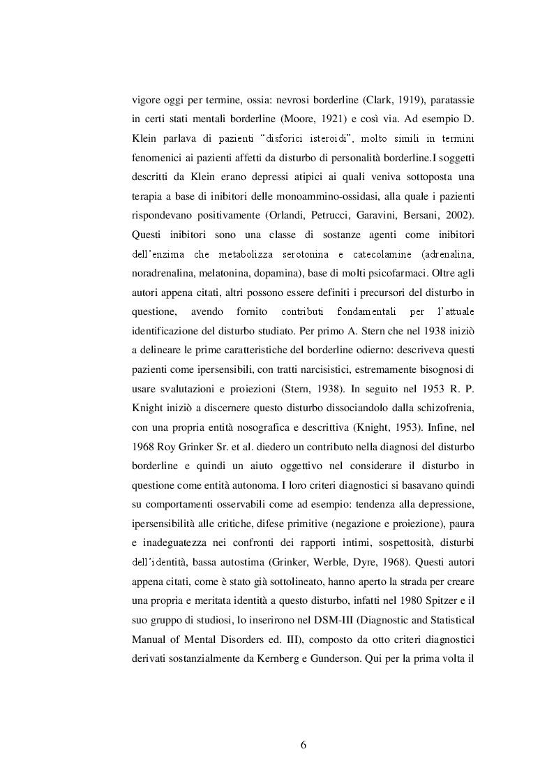 Anteprima della tesi: Basi biologiche e genetiche del disturbo borderline di personalità, Pagina 4
