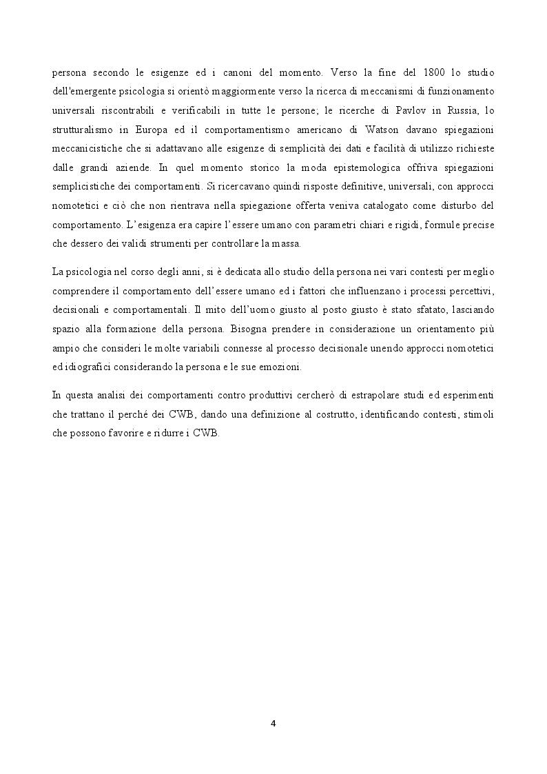Anteprima della tesi: Stress e comportamenti controproduttivi (CWB), Pagina 3