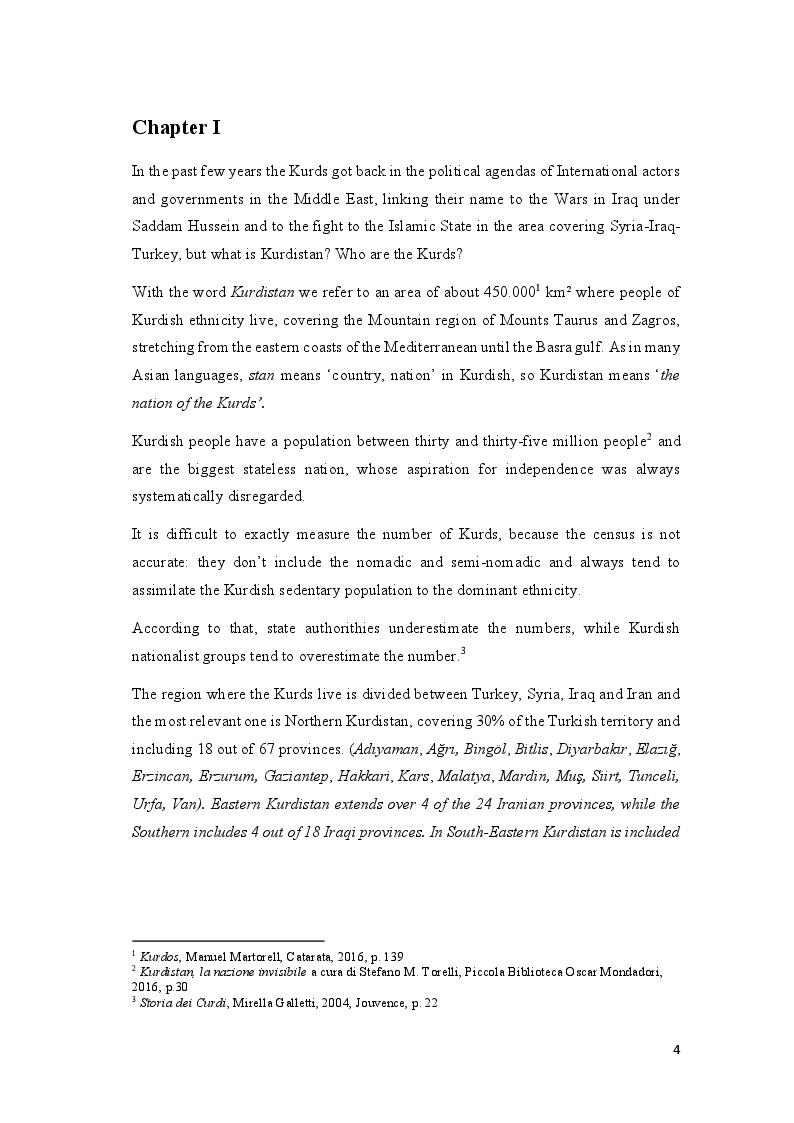 Anteprima della tesi: Education, Interethnic Hatred, Identity: the Kurdish Question in South-Eastern Turkey, Pagina 5