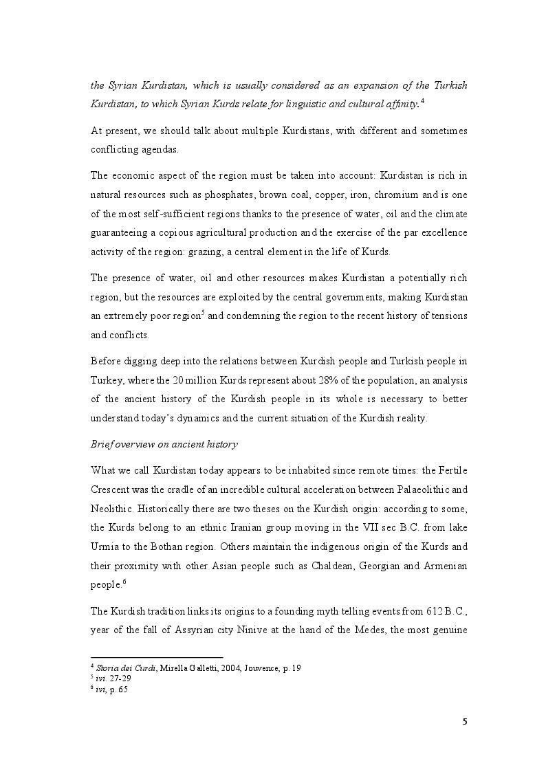 Anteprima della tesi: Education, Interethnic Hatred, Identity: the Kurdish Question in South-Eastern Turkey, Pagina 6