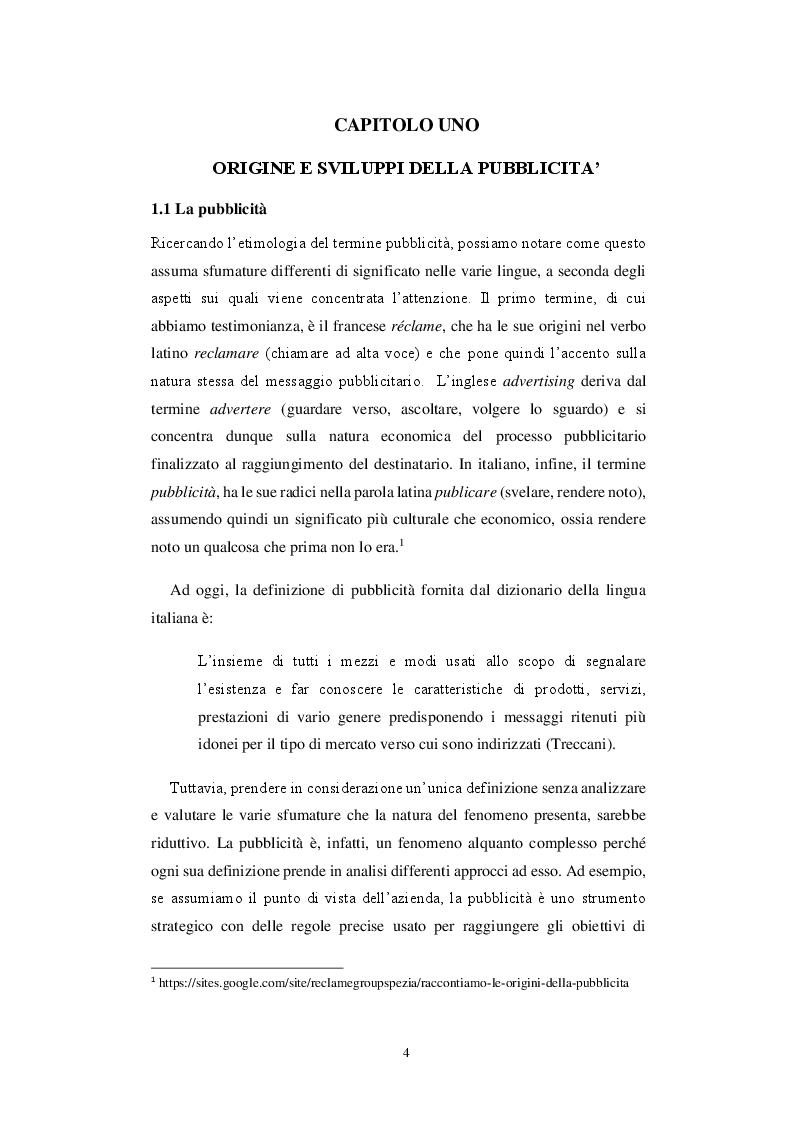 Anteprima della tesi: Storia di una comunicazione sempre al dente: un'analisi linguistica ed extra-linguistica della pubblicità Barilla, Pagina 5