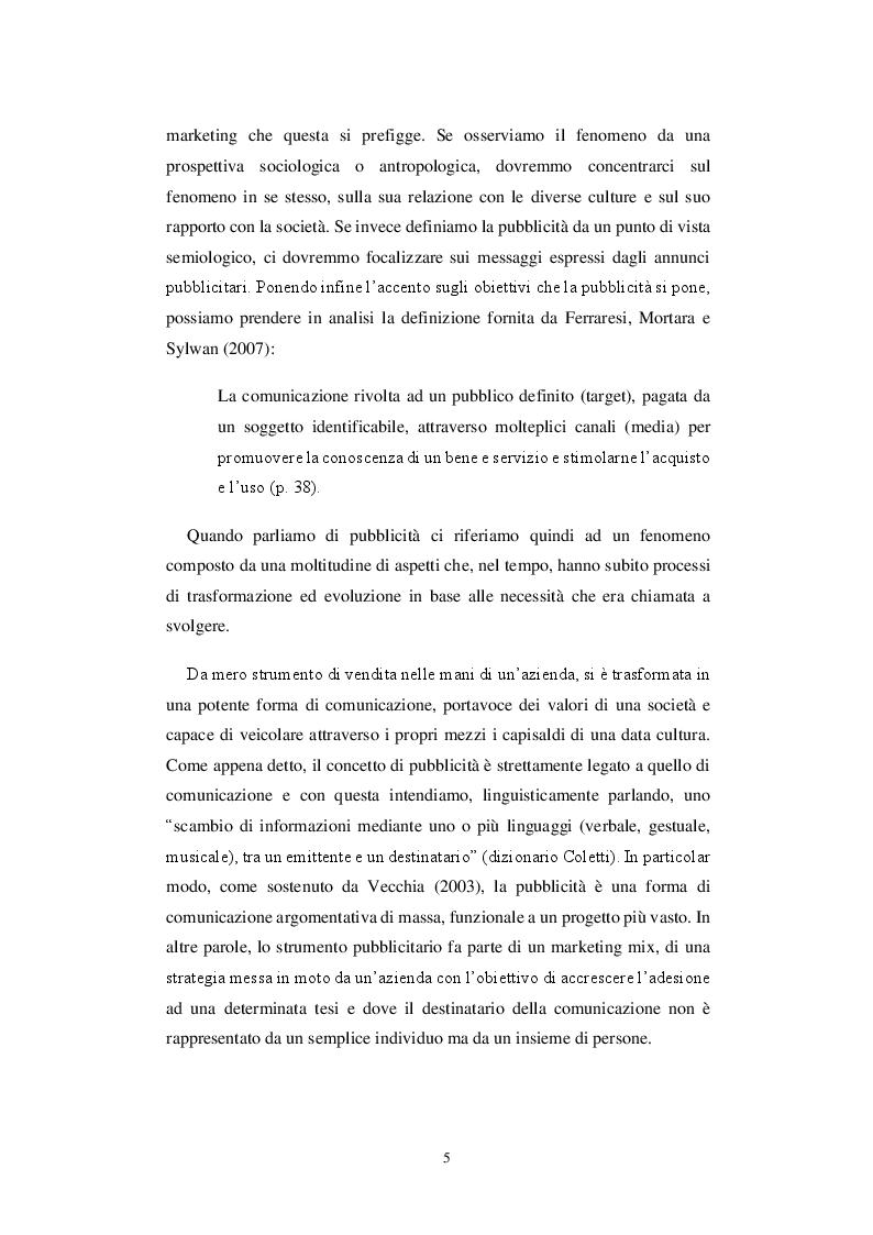 Anteprima della tesi: Storia di una comunicazione sempre al dente: un'analisi linguistica ed extra-linguistica della pubblicità Barilla, Pagina 6