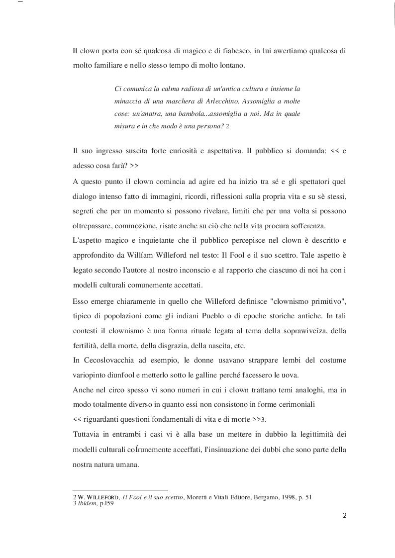 Anteprima della tesi: Il clown e l'attore, Pagina 4