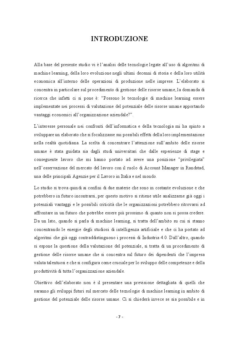 Anteprima della tesi: Possibili applicazioni del machine learning alla valutazione del potenziale delle risorse umane, Pagina 2