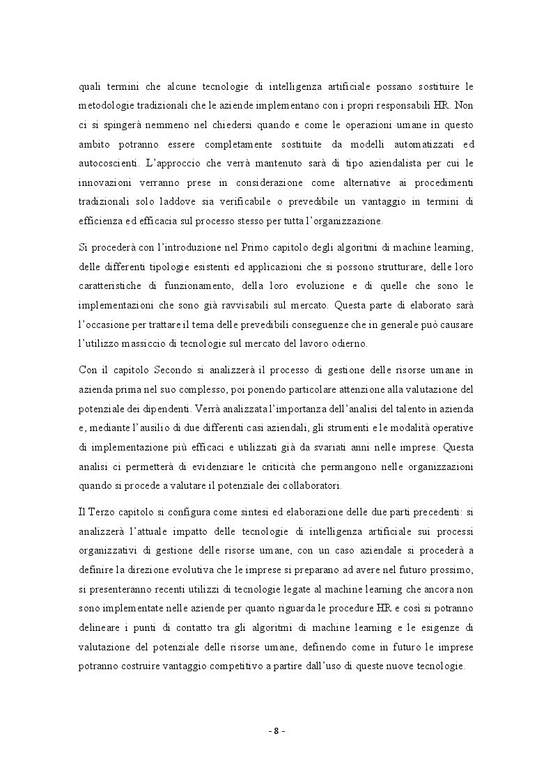 Anteprima della tesi: Possibili applicazioni del machine learning alla valutazione del potenziale delle risorse umane, Pagina 3