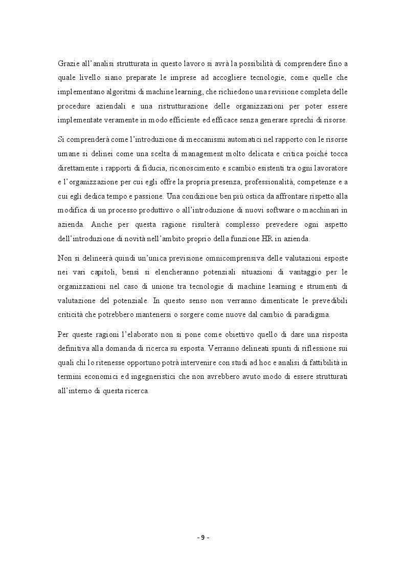 Anteprima della tesi: Possibili applicazioni del machine learning alla valutazione del potenziale delle risorse umane, Pagina 4