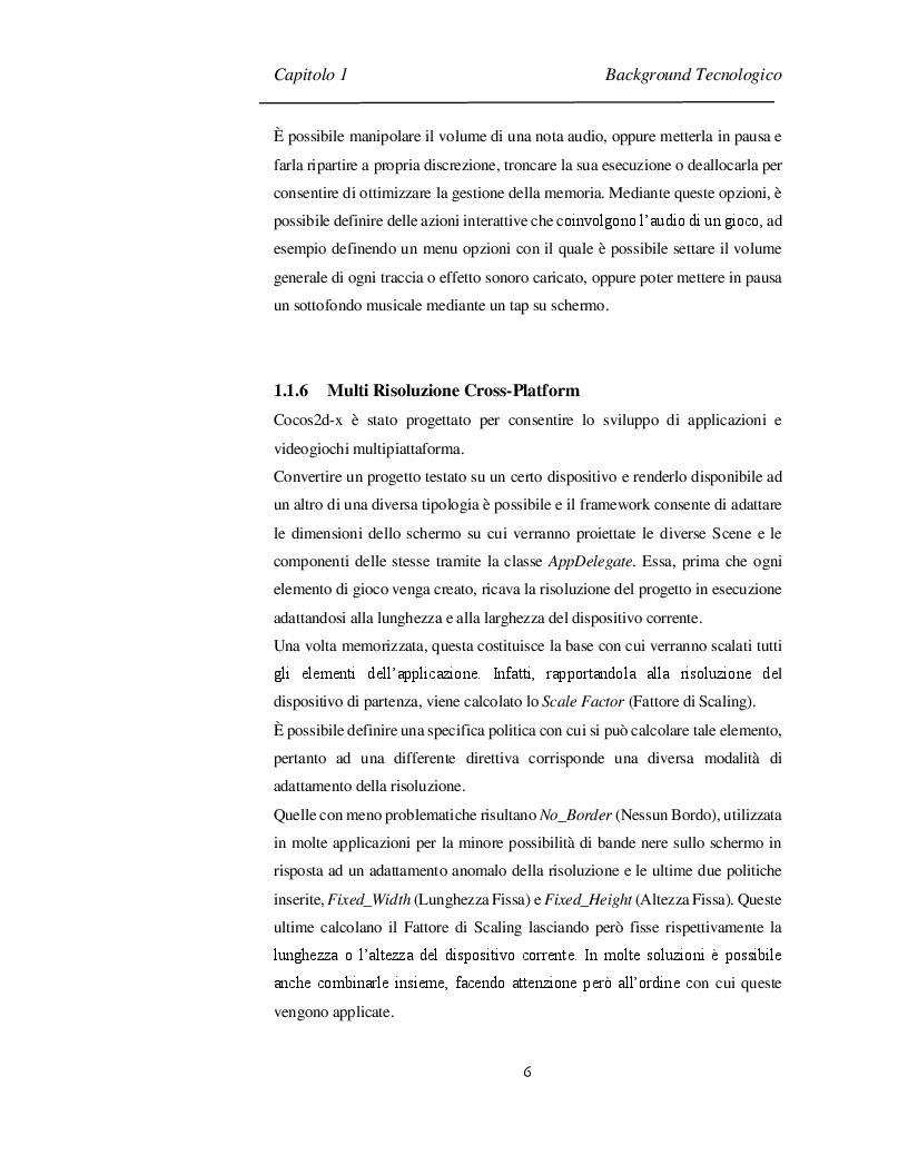 Estratto dalla tesi: Progettazione e Sviluppo di un Software Videoludico con Cocos2d-x