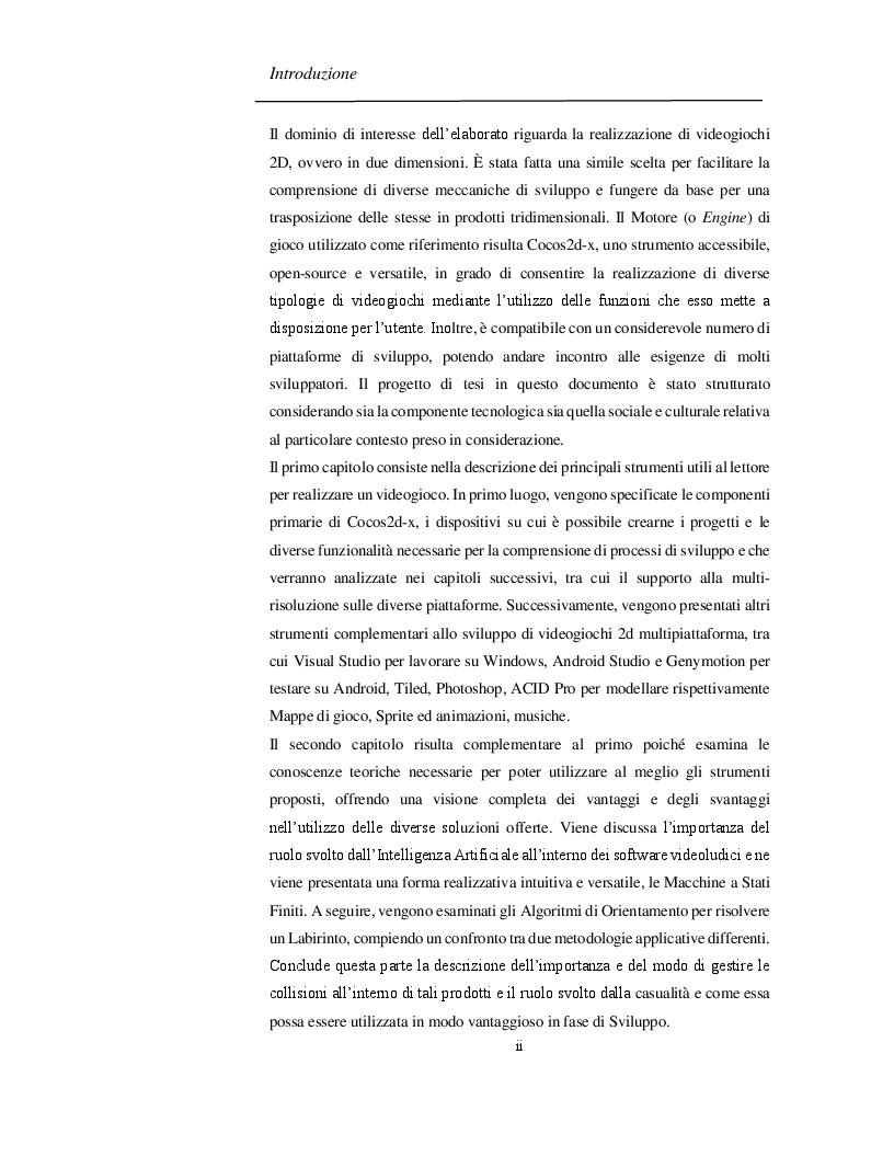 Anteprima della tesi: Progettazione e Sviluppo di un Software Videoludico con Cocos2d-x, Pagina 3