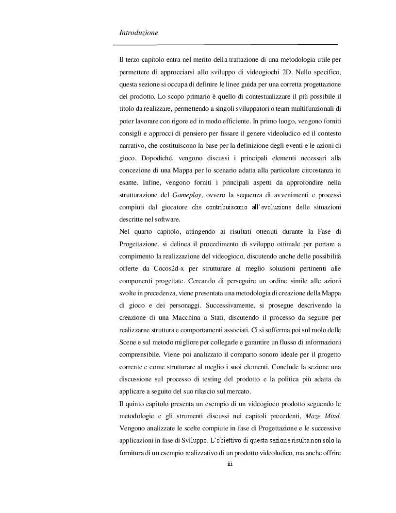 Anteprima della tesi: Progettazione e Sviluppo di un Software Videoludico con Cocos2d-x, Pagina 4