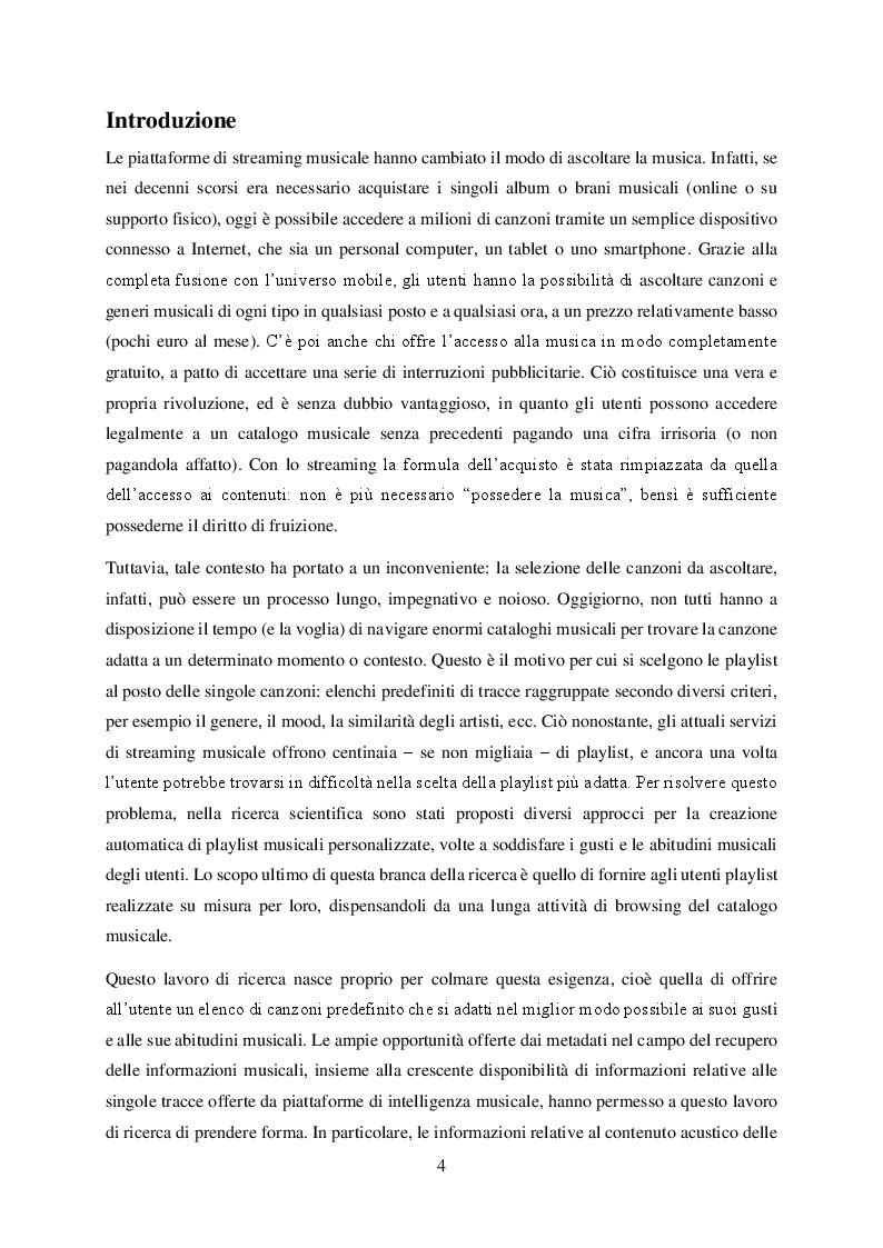 Anteprima della tesi: Ready-mix: un algoritmo per la generazione automatica di playlist musicali personalizzate e sensibili al fattore tempo, Pagina 2