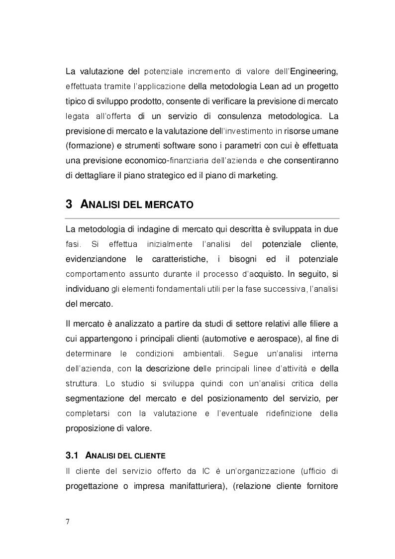 """Anteprima della tesi: Sviluppo ed implementazione di una metodologia di gestione progetti ed attività di ingegneria, basata sul concetto di """"Lean Engineering"""", Pagina 5"""
