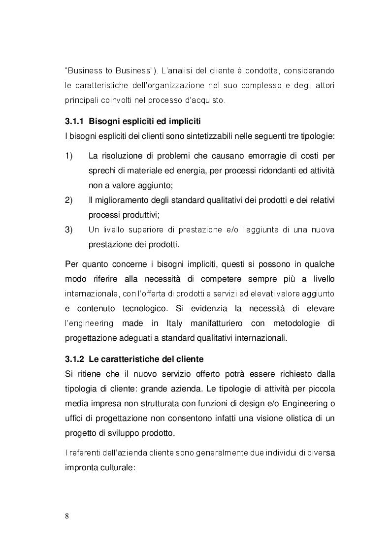"""Anteprima della tesi: Sviluppo ed implementazione di una metodologia di gestione progetti ed attività di ingegneria, basata sul concetto di """"Lean Engineering"""", Pagina 6"""