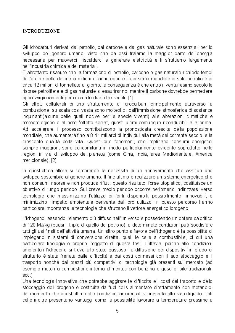 Anteprima della tesi: Analisi sperimentale di una cella a combustibile passiva alimentata a metanolo diretto, Pagina 2