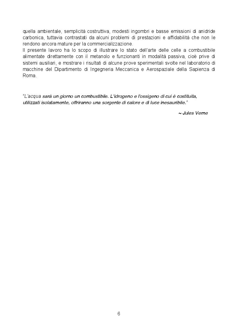 Anteprima della tesi: Analisi sperimentale di una cella a combustibile passiva alimentata a metanolo diretto, Pagina 3