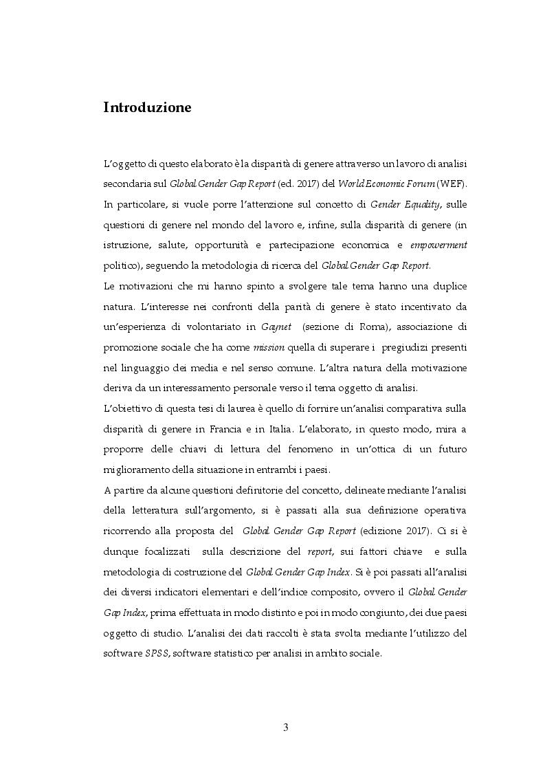 Anteprima della tesi: Gender Equality in Italia e in Francia: un'analisi comparativa, Pagina 2