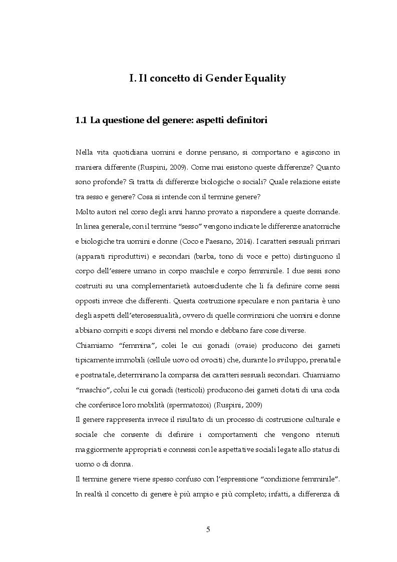 Anteprima della tesi: Gender Equality in Italia e in Francia: un'analisi comparativa, Pagina 4