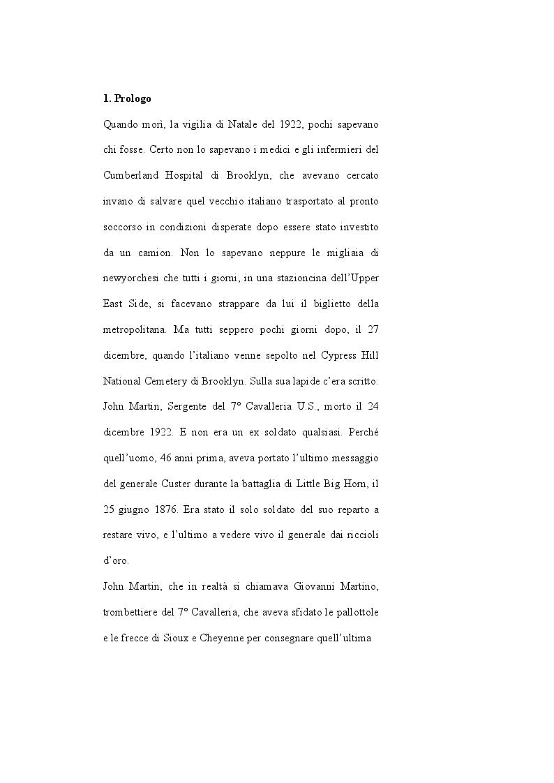 Anteprima della tesi: John Martin, il sopravvissuto di Little Big Horn: storia di un italiano nell'America di Custer, Pagina 2