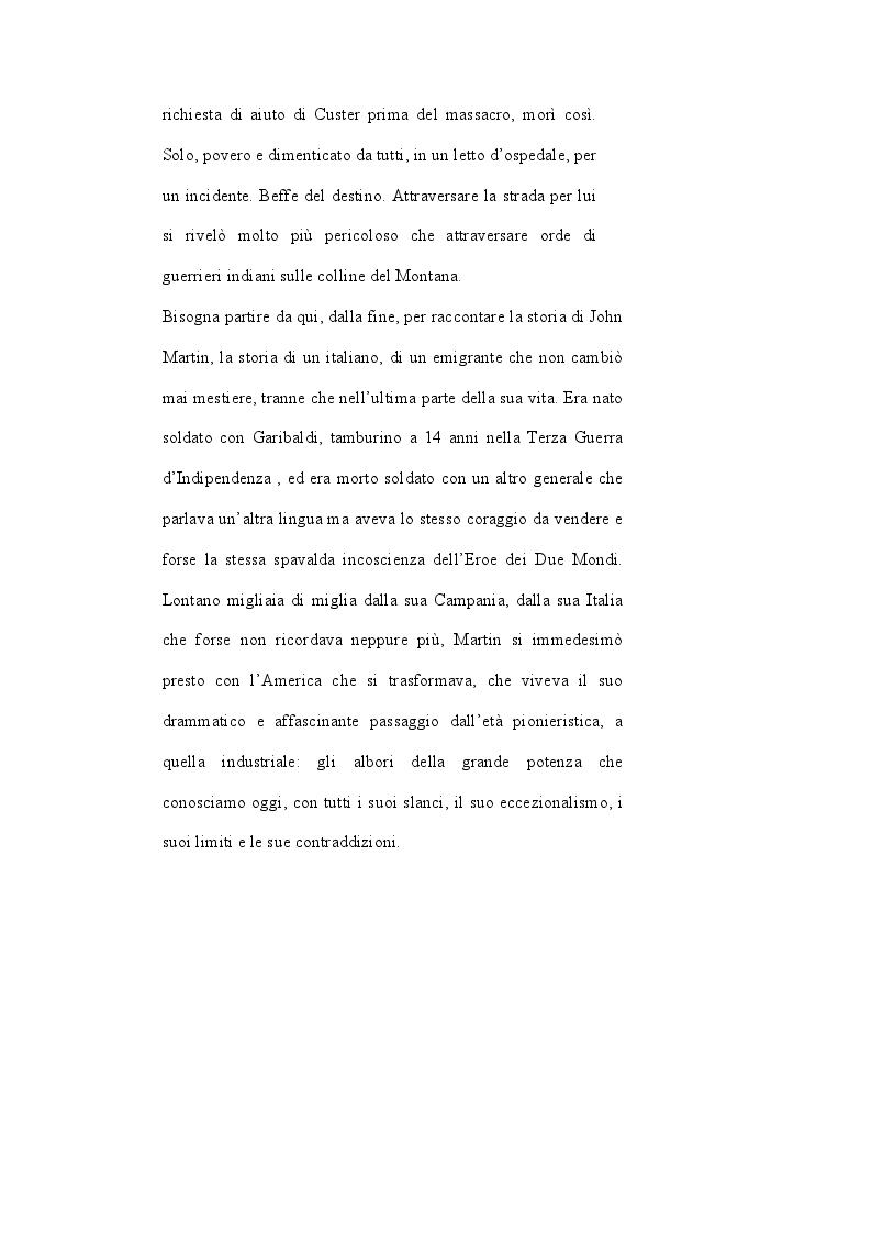 Anteprima della tesi: John Martin, il sopravvissuto di Little Big Horn: storia di un italiano nell'America di Custer, Pagina 3