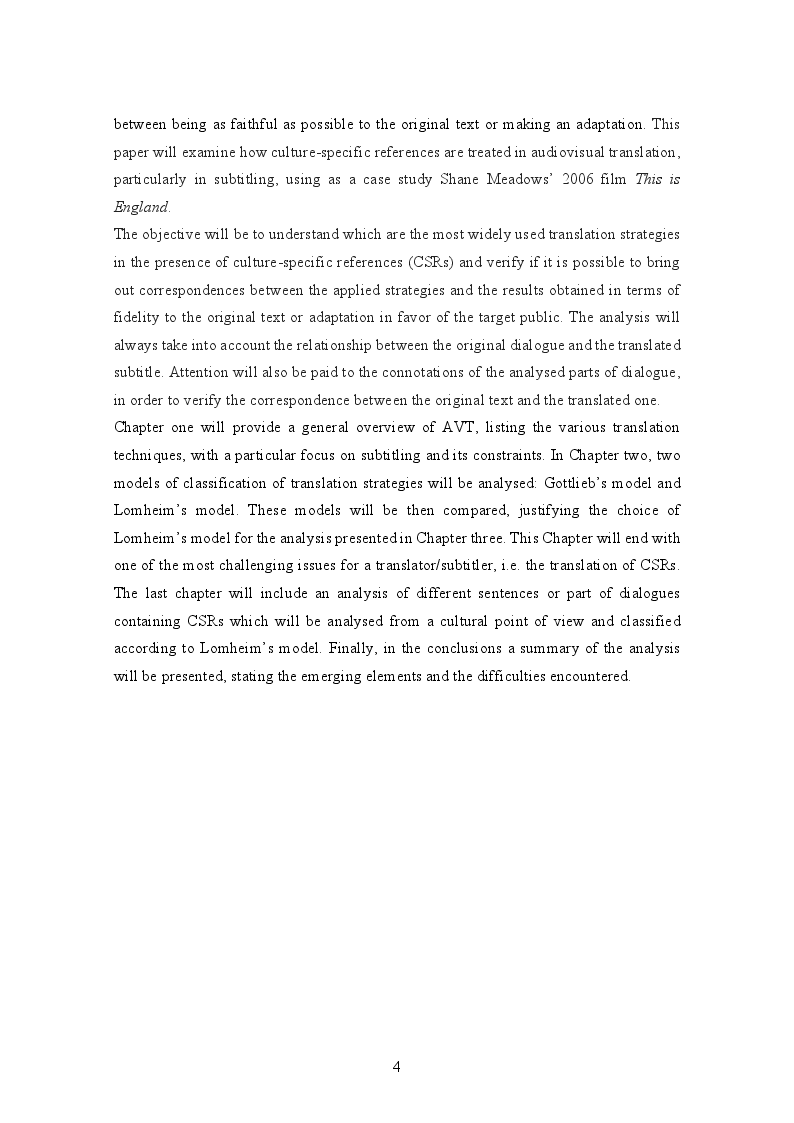 Anteprima della tesi: Translating culture-specific references in subtitling: ''This is England'' as a case study, Pagina 3