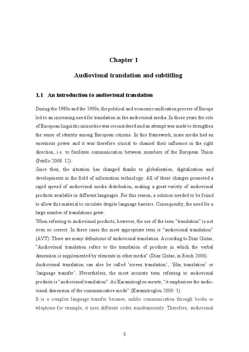 Anteprima della tesi: Translating culture-specific references in subtitling: ''This is England'' as a case study, Pagina 4
