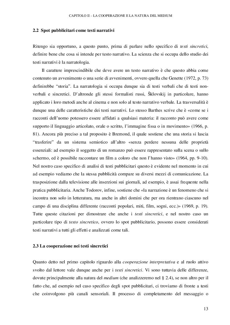 Anteprima della tesi: Testi pubblicitari: una cooperazione verso il consumo, Pagina 2