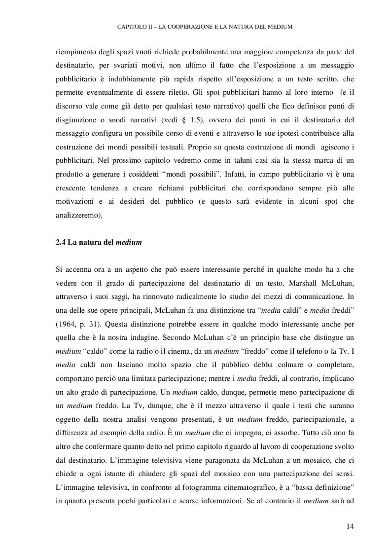 Anteprima della tesi: Testi pubblicitari: una cooperazione verso il consumo, Pagina 3