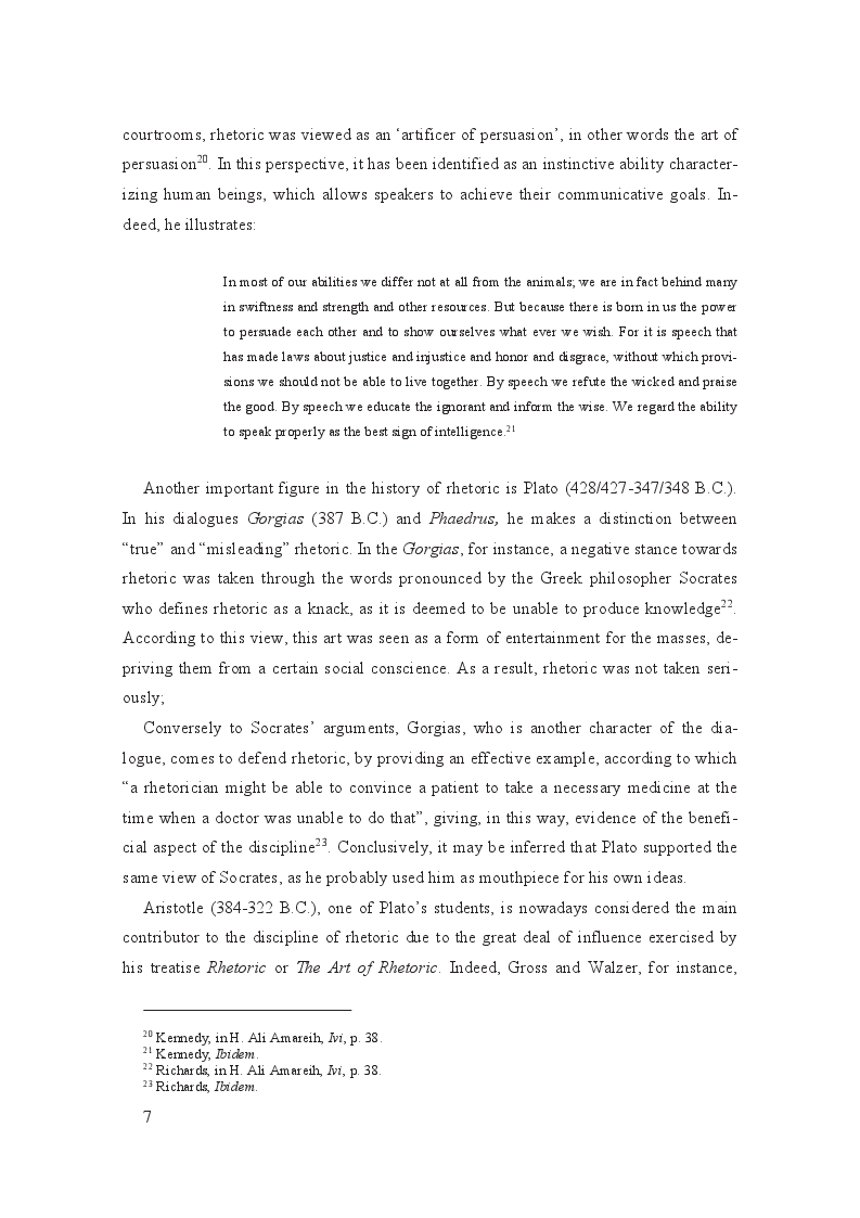 Estratto dalla tesi: Linguistic and cultural background influence on the speaker's rhetoric: a comparative case study of the English speeches of Queen Rania and Queen Noor of Jordan