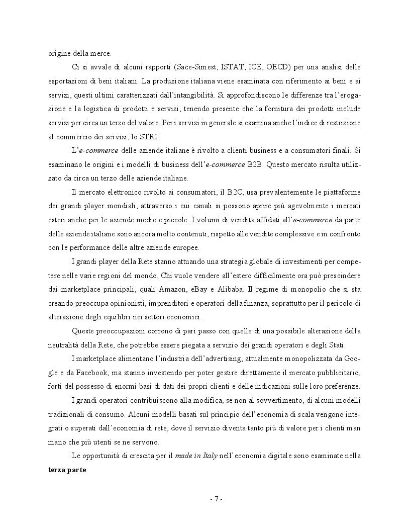 Anteprima della tesi: Economia digitale e marketplace: le opportunità per il Made in Italy, Pagina 4
