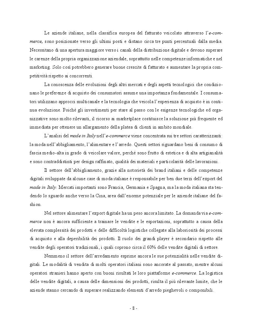 Anteprima della tesi: Economia digitale e marketplace: le opportunità per il Made in Italy, Pagina 5