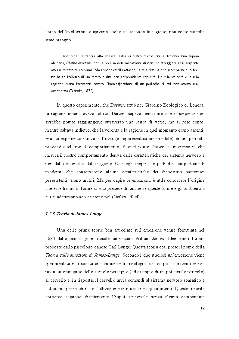 Estratto dalla tesi: Le ''Emozioni'' di Lev Vigotskij