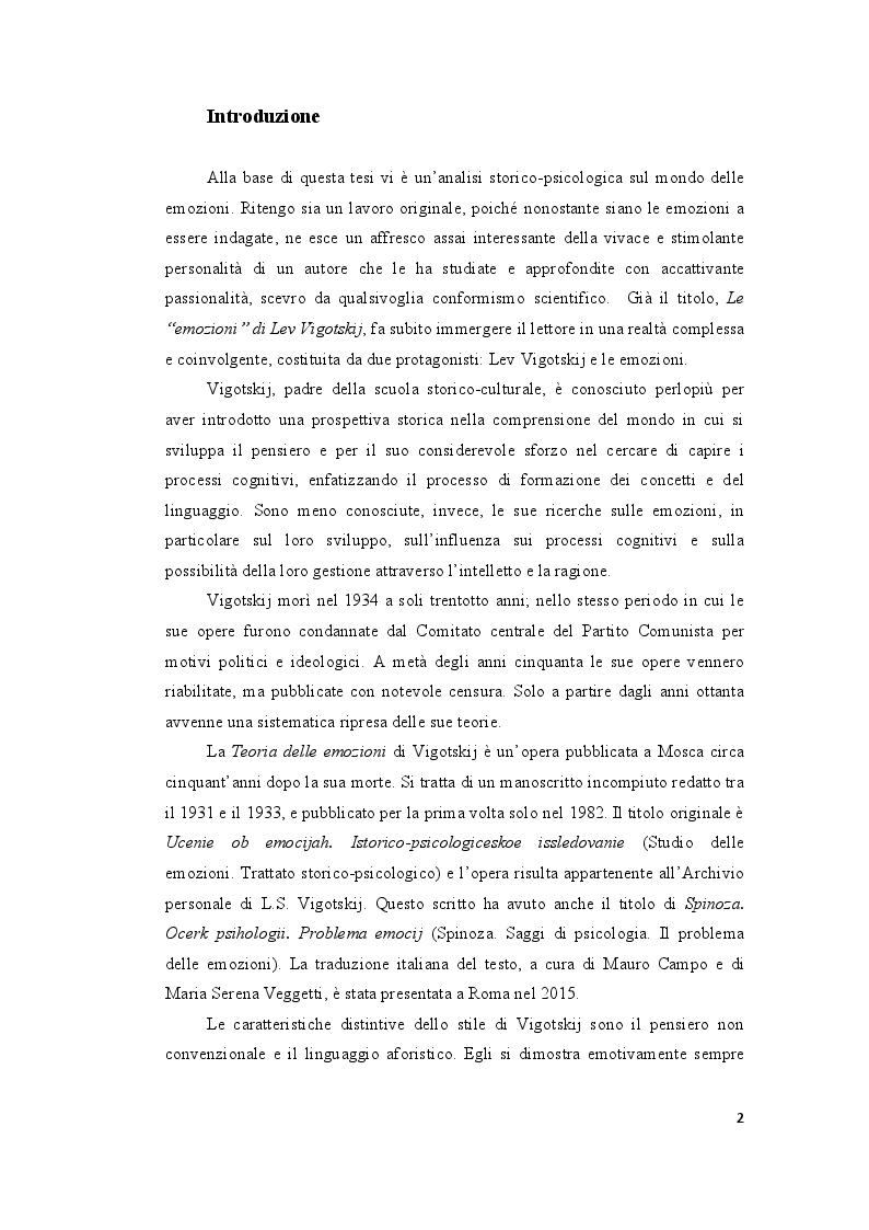 Anteprima della tesi: Le ''Emozioni'' di Lev Vigotskij, Pagina 2