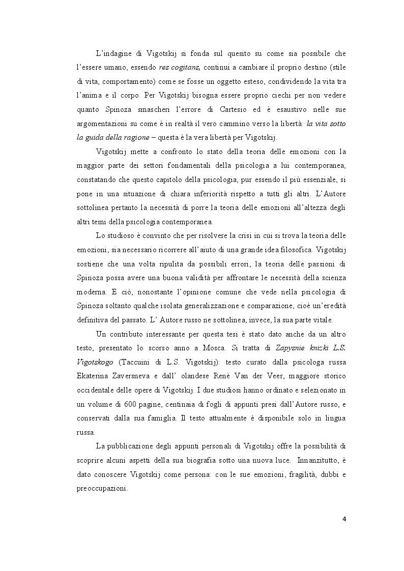 Anteprima della tesi: Le ''Emozioni'' di Lev Vigotskij, Pagina 4