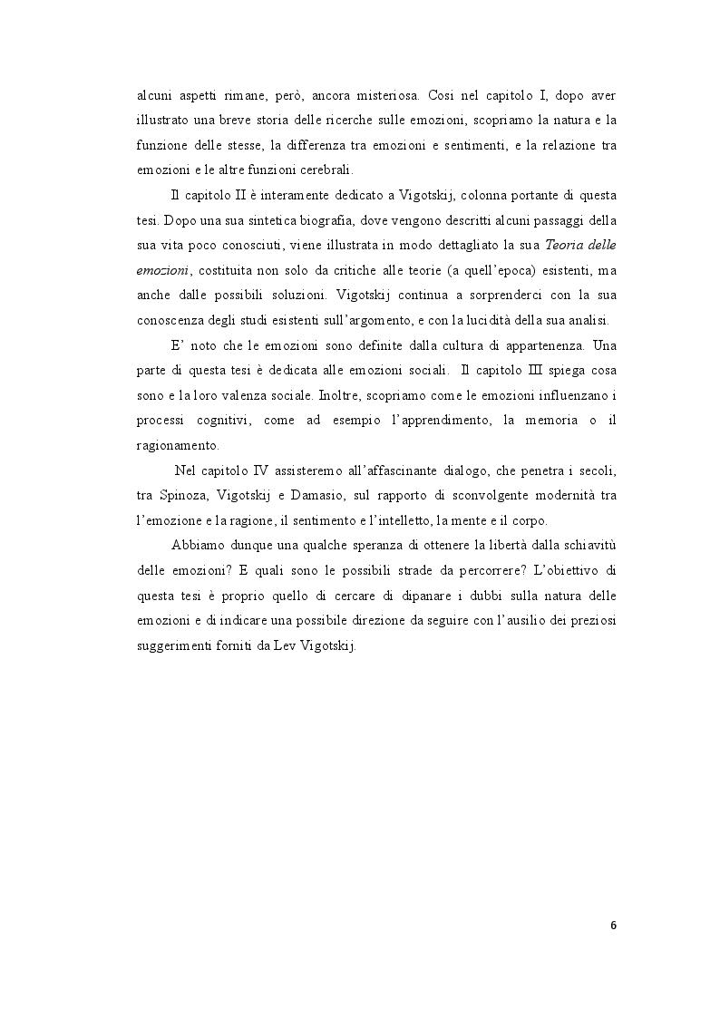 Anteprima della tesi: Le ''Emozioni'' di Lev Vigotskij, Pagina 6