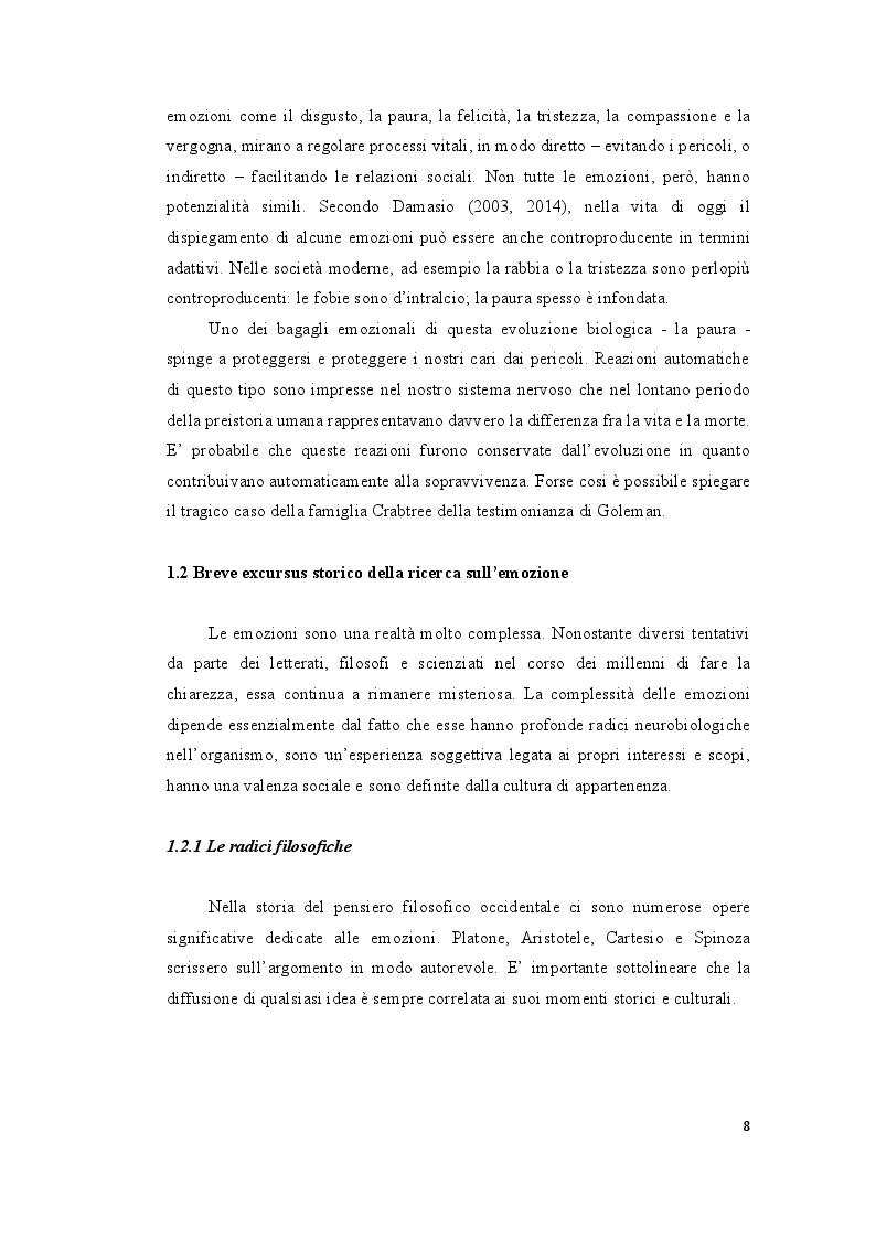 Anteprima della tesi: Le ''Emozioni'' di Lev Vigotskij, Pagina 8
