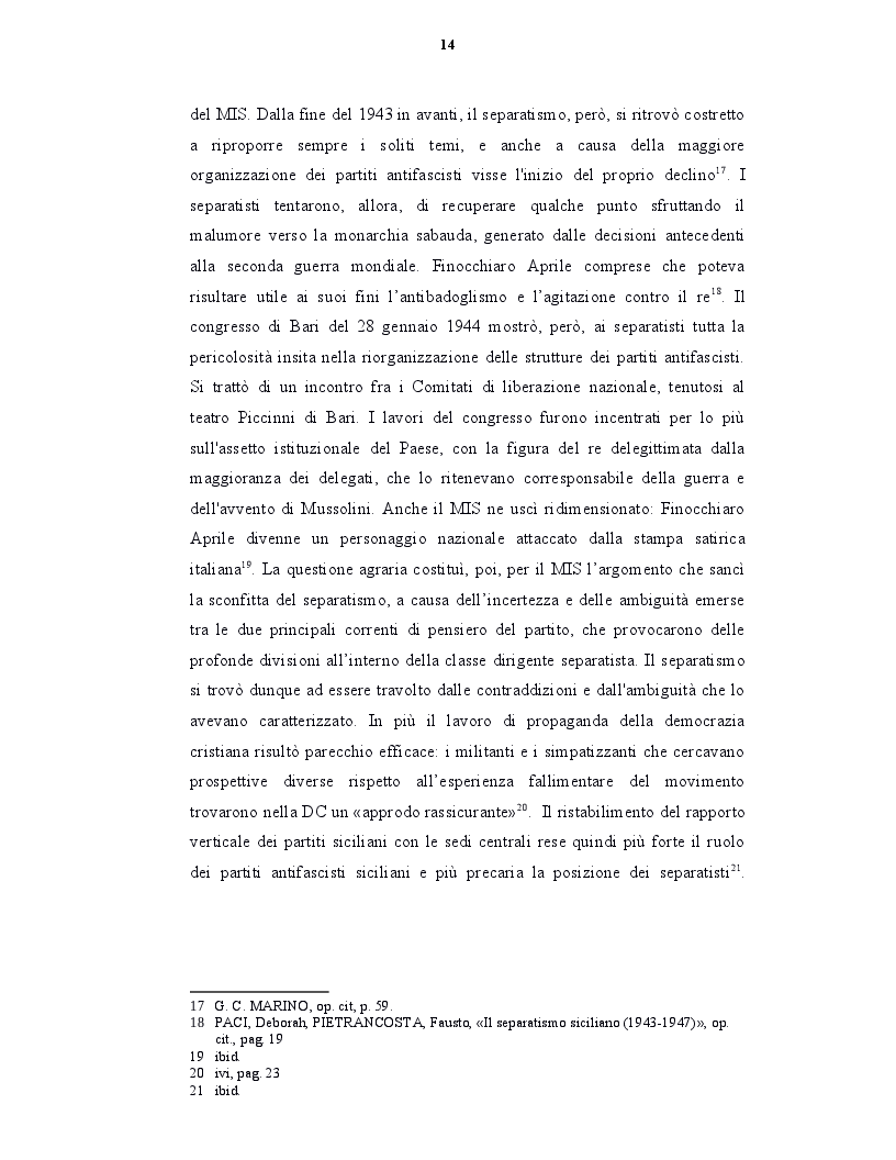 Estratto dalla tesi: Origini, caratteri e prospettive dell'autonomia speciale della Regione Siciliana
