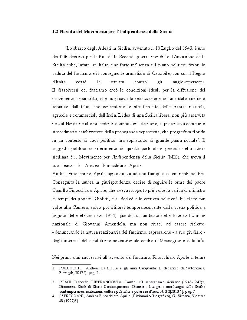 Anteprima della tesi: Origini, caratteri e prospettive dell'autonomia speciale della Regione Siciliana, Pagina 6